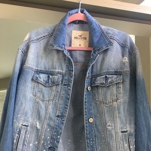 Oversized distressed Hollister jean jacket